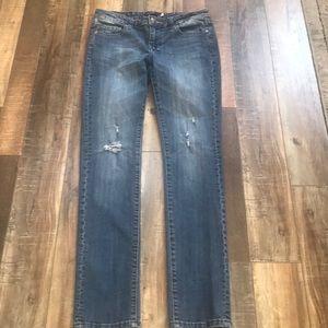 Vigoss distressed denim rhinestone skinny jeans